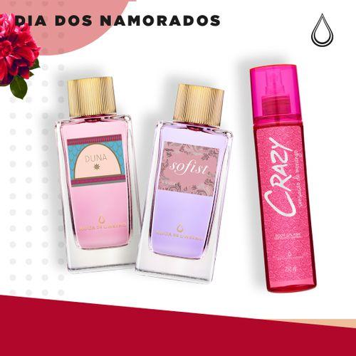 Kit-Namorados-Feminino---1-perfume-Duna---1-Sofist---1-Body-Splash-Crazy-250-ml